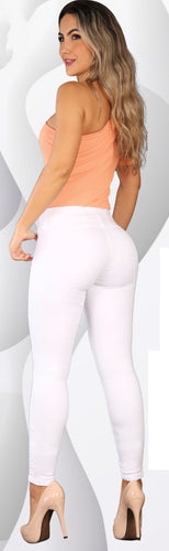 Simple n sexy white push up skinny jeans