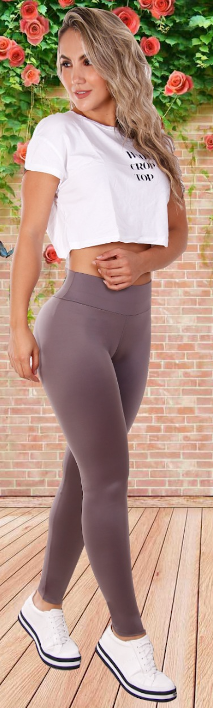 Simple n Smooth Golden purple leggings