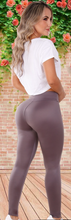Load image into Gallery viewer, Simple n Smooth Golden purple leggings