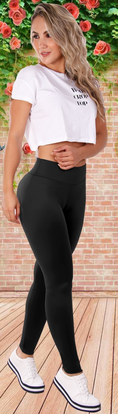 Simple n Smooth double black leggings