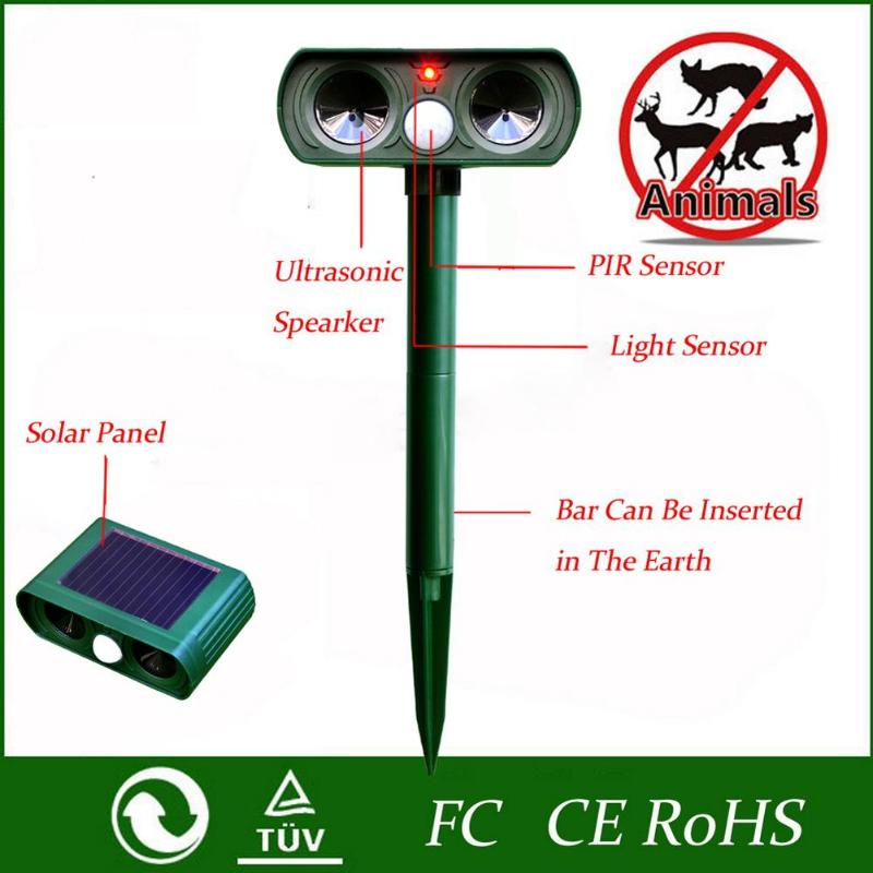 Ultrasonic Snake Repellant - Outdoor Solar Powered Animal & Pest Repeller - Get Rid of Snakes