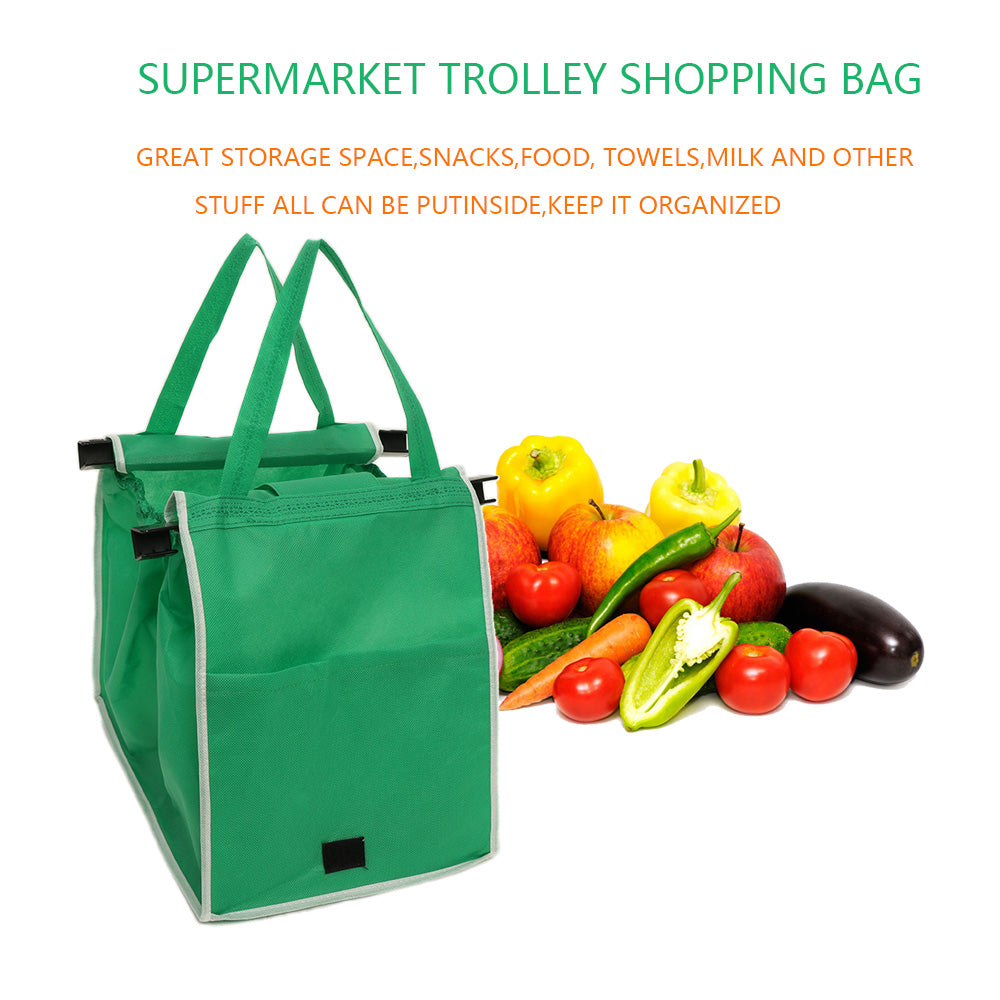 Reusable Clip-to-Cart Grocery Bag ( Set of 2 )