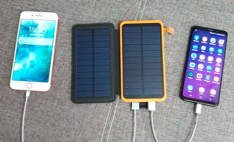 Portable Solar Charger Powers Multiple Devices