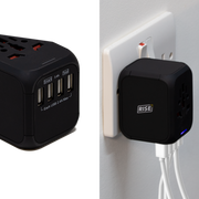 4 USB's One Worldwide Travel Adapter