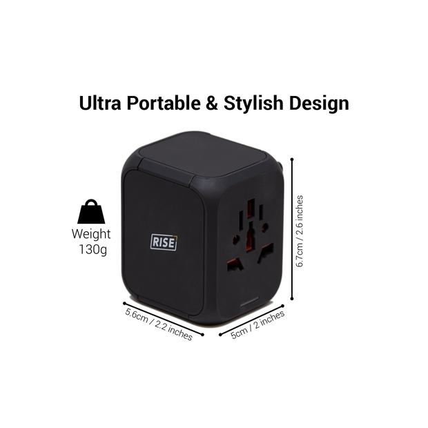 Compact Worldwide Travel Adapter
