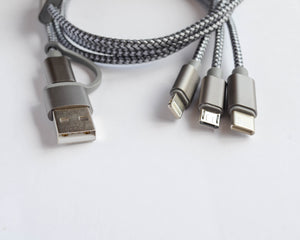 3 in 1 Mobile Cable Charger - The Earth Case