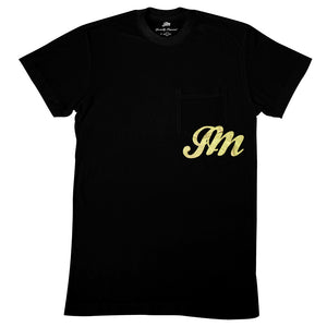 JM foil logo pocket tee-John Mayer