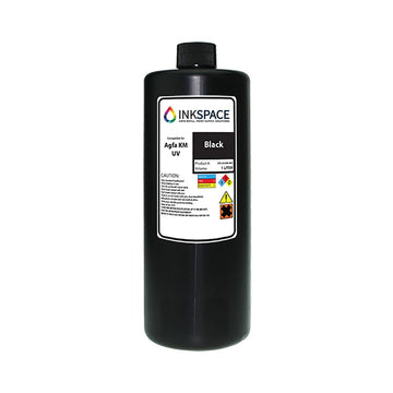 Agfa Jeti Compatible UV Lamp Ink (1000 mL) - Black