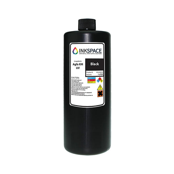Agfa Jeti Compatible UV Lamp Ink (1000 mL) - Black - dtg.ink.space