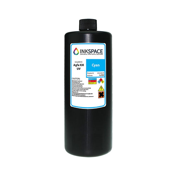 Agfa Jeti Compatible UV Lamp Ink (1000 mL) - Cyan - dtg.ink.space