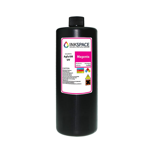 Agfa Jeti Compatible UV LED Ink (1000 mL) - Magenta - dtg.ink.space