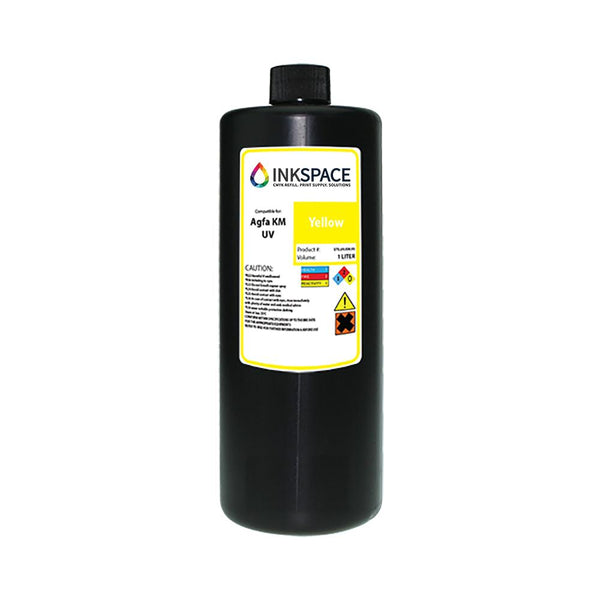 Agfa Jeti Compatible UV Lamp Ink (1000 mL) - Yellow - dtg.ink.space