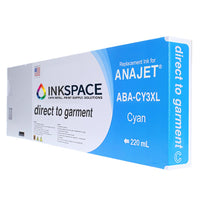 Anajet Melcojet TexMac Solo DTG Ink (220 mL) - Cyan - dtg.ink.space