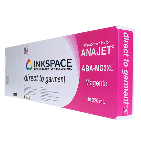 Anajet Melcojet TexMac Solo DTG Ink (220 mL) - Magenta - dtg.ink.space