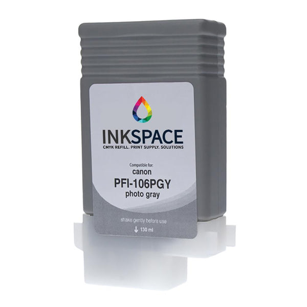 Canon PFI-106 Compatible Pigment Ink (130 mL) - Photo Gray - dtg.ink.space