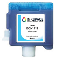 Canon imagePROGRAF BCI-1411 Compatible Dye Ink (330 mL) - Photo Cyan - dtg.ink.space