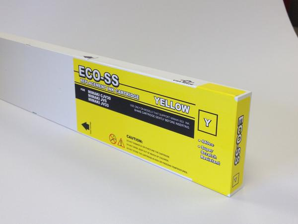 [Budget Inks] Mimaki Eco-SS Mild Solvent Compatible Ink (440 mL) - Yellow - dtg.ink.space