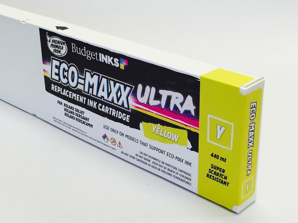 [Budget Inks] Roland Eco-Maxx ULTRA Eco-Solvent Ink (440 mL) - Yellow - dtg.ink.space