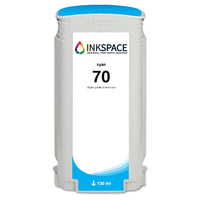 HP Hewlett Packard HP70 Compatible Pigment Ink (130 mL) - Cyan - dtg.ink.space