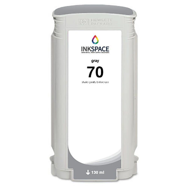 HP Hewlett Packard HP70 Compatible Pigment Ink (130 mL) - Grey - dtg.ink.space