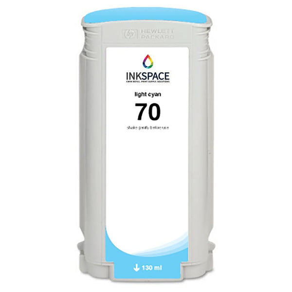 HP Hewlett Packard HP70 Compatible Pigment Ink (130 mL) - Light Cyan - dtg.ink.space