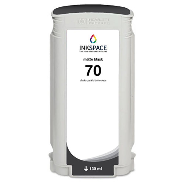 HP Hewlett Packard HP70 Compatible Pigment Ink (130 mL) - Matte Black - dtg.ink.space