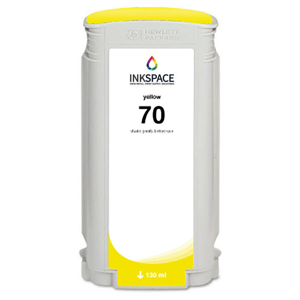 HP Hewlett Packard HP70 Compatible Pigment Ink (130 mL) - Yellow - dtg.ink.space