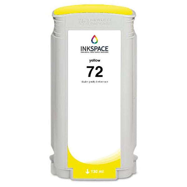 HP Hewlett Packard HP72 Compatible Dye Ink (130 mL) - Yellow - dtg.ink.space