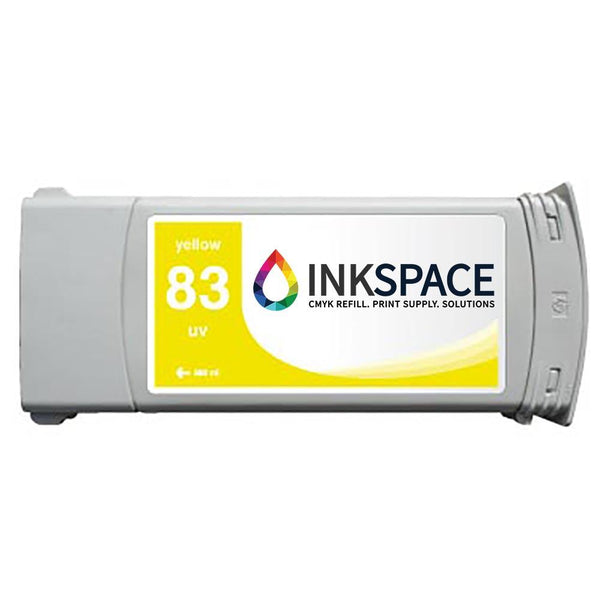HP Hewlett Packard HP83 Compatible UV Ink (680 mL) - Yellow - dtg.ink.space