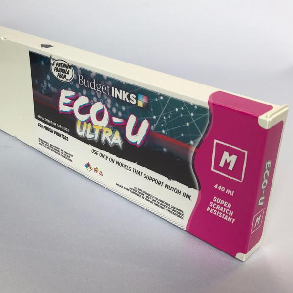 [Budget Inks] Mutoh Eco-U ULTRA Compatible Eco-Solvent Ink (440 mL) - Magenta - dtg.ink.space