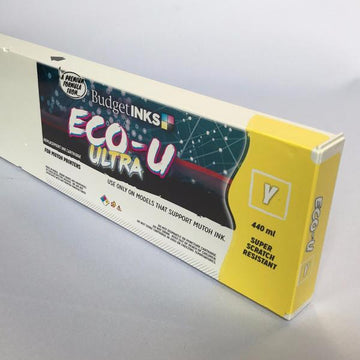 [Budget Inks] Mutoh Eco-U ULTRA Compatible Eco-Solvent Ink (440 mL) - Yellow