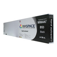 Mimaki BS3 Hard Solvent Compatible Ink (600 mL) - Black