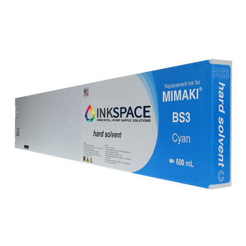 Mimaki BS3 Hard Solvent Compatible Ink (600 mL) - Cyan