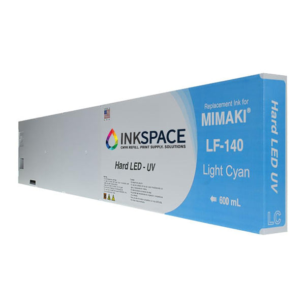 Mimaki LF-140 Hard LED UV Compatible Ink (600 mL) - Light Cyan - dtg.ink.space