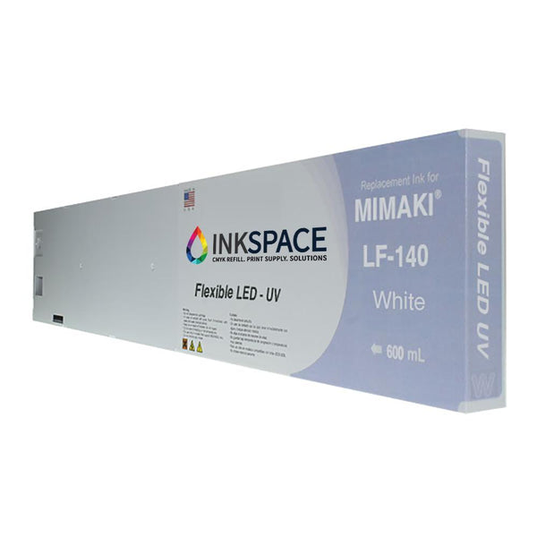 Mimaki LF-140 Hard LED UV Compatible Ink (600 mL) - White
