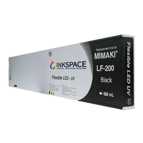Mimaki LF-200 Flexible LED UV Compatible Ink (600 mL) - Black - dtg.ink.space