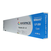 Mimaki LF-200 Flexible LED UV Compatible Ink (600 mL) - Cyan - dtg.ink.space
