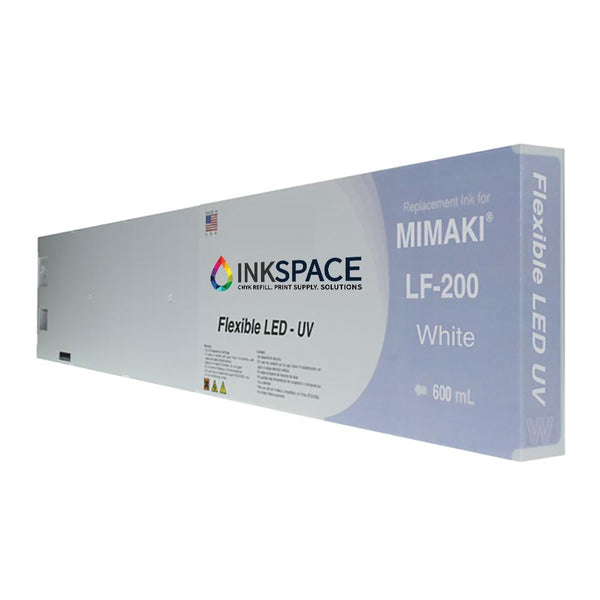 Mimaki LF-200 Flexible LED UV Compatible Ink (600 mL) - White - dtg.ink.space