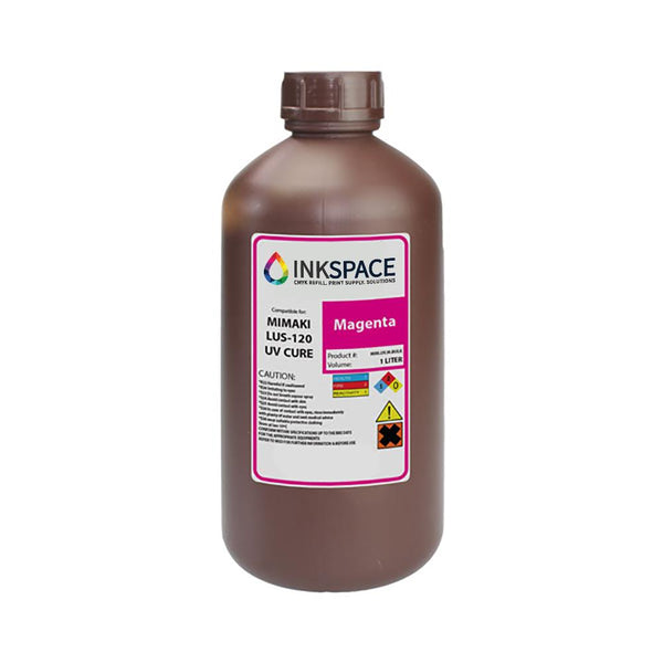 Mimaki LUS-120 Flexible UV Compatible Ink (1000 mL) - Magenta - dtg.ink.space