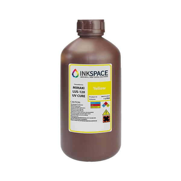Mimaki LUS-120 Flexible UV Compatible Ink (1000 mL) - Yellow - dtg.ink.space