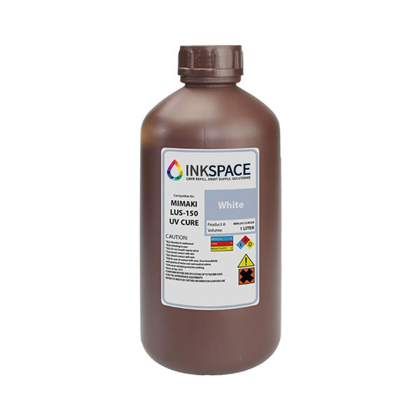Mimaki LUS-150 Flexible UV Compatible Ink (1000 mL) - White - dtg.ink.space