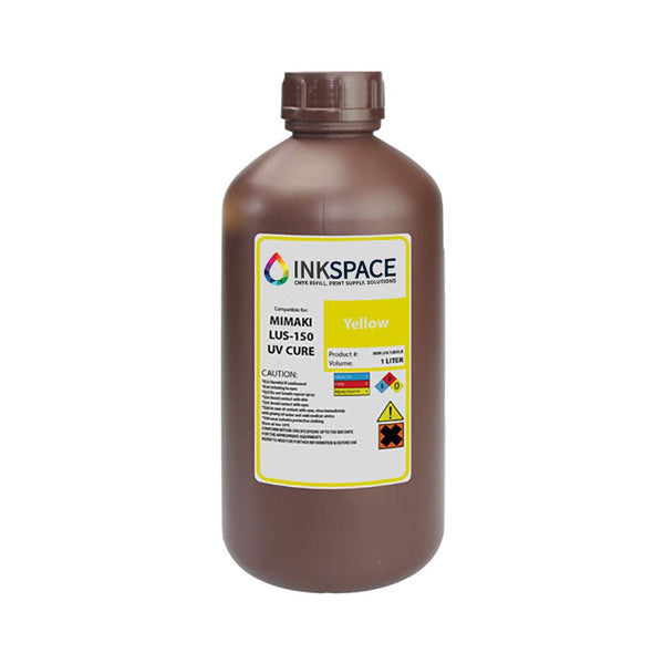 Mimaki LUS-150 Flexible UV Compatible Ink (1000 mL) - Yellow - dtg.ink.space