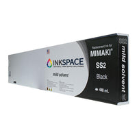 Mimaki SS2 Mild Solvent Compatible Ink (440 mL) - Black - dtg.ink.space