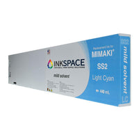 Mimaki SS2 Mild Solvent Compatible Ink (440 mL) - Light Cyan - dtg.ink.space