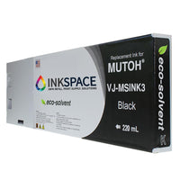 Mutoh Valuejet Eco-Solvent Compatible Ink (220 mL) - Black - dtg.ink.space