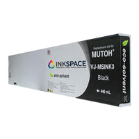 Mutoh Valuejet Eco-Solvent Compatible Ink (440 mL) - Black - dtg.ink.space