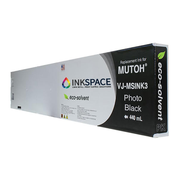 Mutoh Valuejet Eco-Solvent Compatible Ink (220 mL) - Photo Black - dtg.ink.space