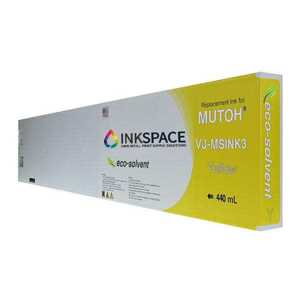 Mutoh Valuejet Eco-Solvent Compatible Ink (440 mL) - Yellow - dtg.ink.space