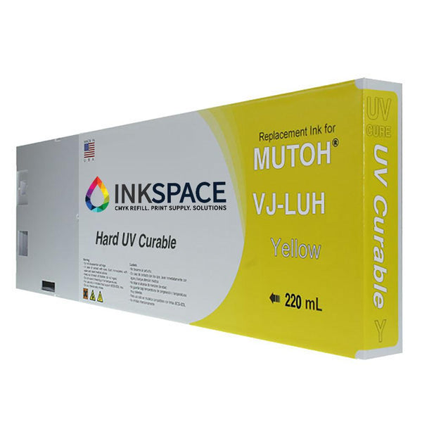 Mutoh UV Compatible Ink (220 mL) - Yellow - dtg.ink.space