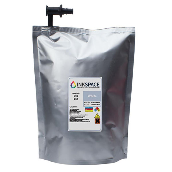 Oce Arizona IJC-256 Compatible UV Ink (1000 mL) - White - dtg.ink.space